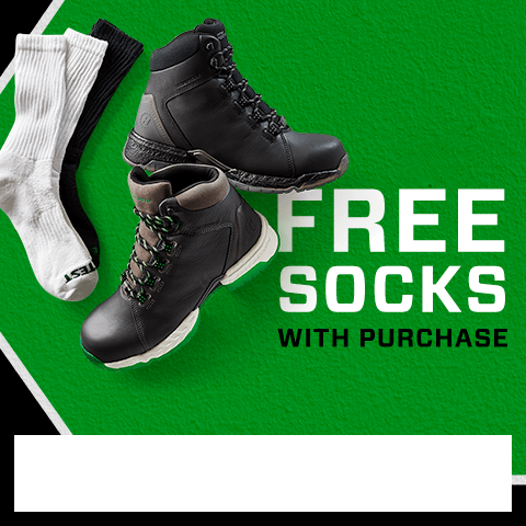 Free Socks with purchase. Use code FREESOCKS