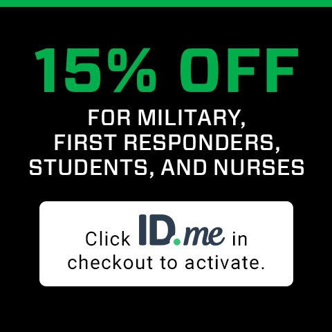 15% off for military, first responders, students, and nurses