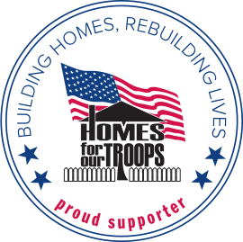 Homes for Our Troops Proud Supporter Badge