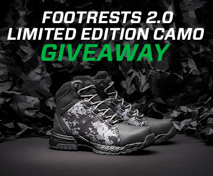 Footrests 2.0 Limited Edition Camo Giveaway